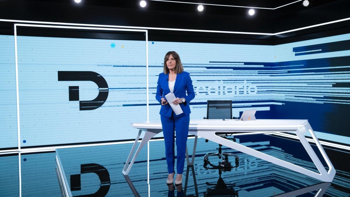 Ana Blanco en el Telediario.