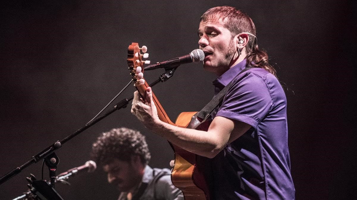 Cesk Freixas, en concierto inaugural de Barnasants en el Auditori