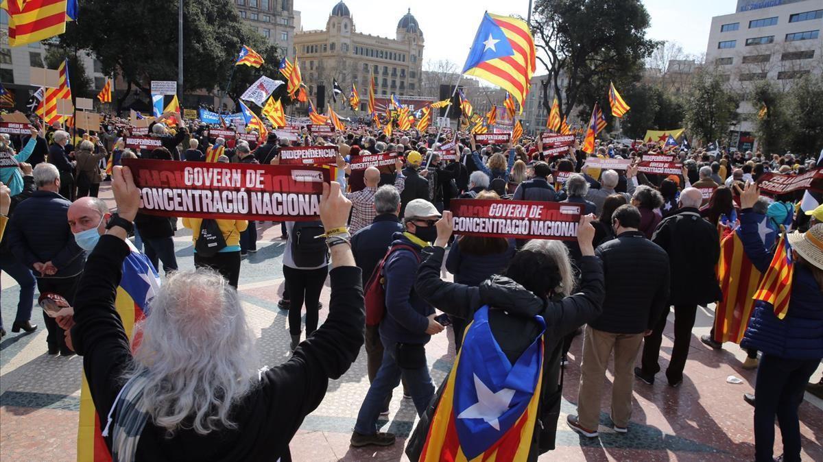 Concentración de la ANC en Plaça Catalunya