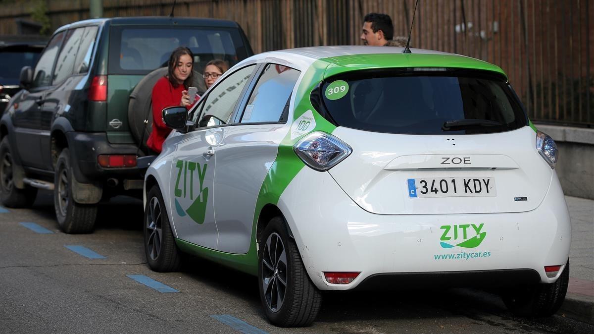 Uno de los vehículos eléctricos de Zity, la nueva compañía de 'carsharing' que ha empezado a operar en Madrid