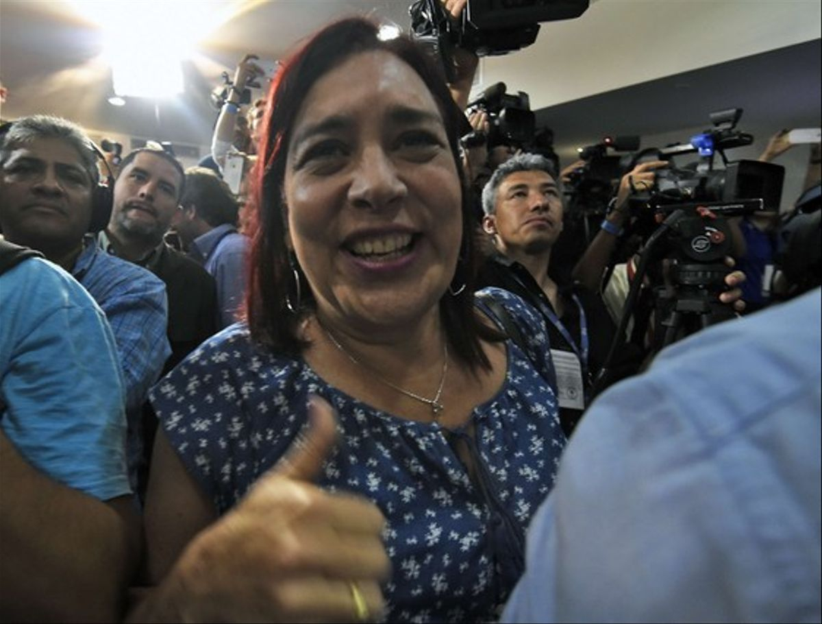 La primera diputada transexual de Venezuela, Tamara Adrían.
