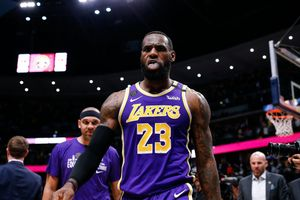 Lebron James, durante el partido de los Lakers ante los Nuggets.