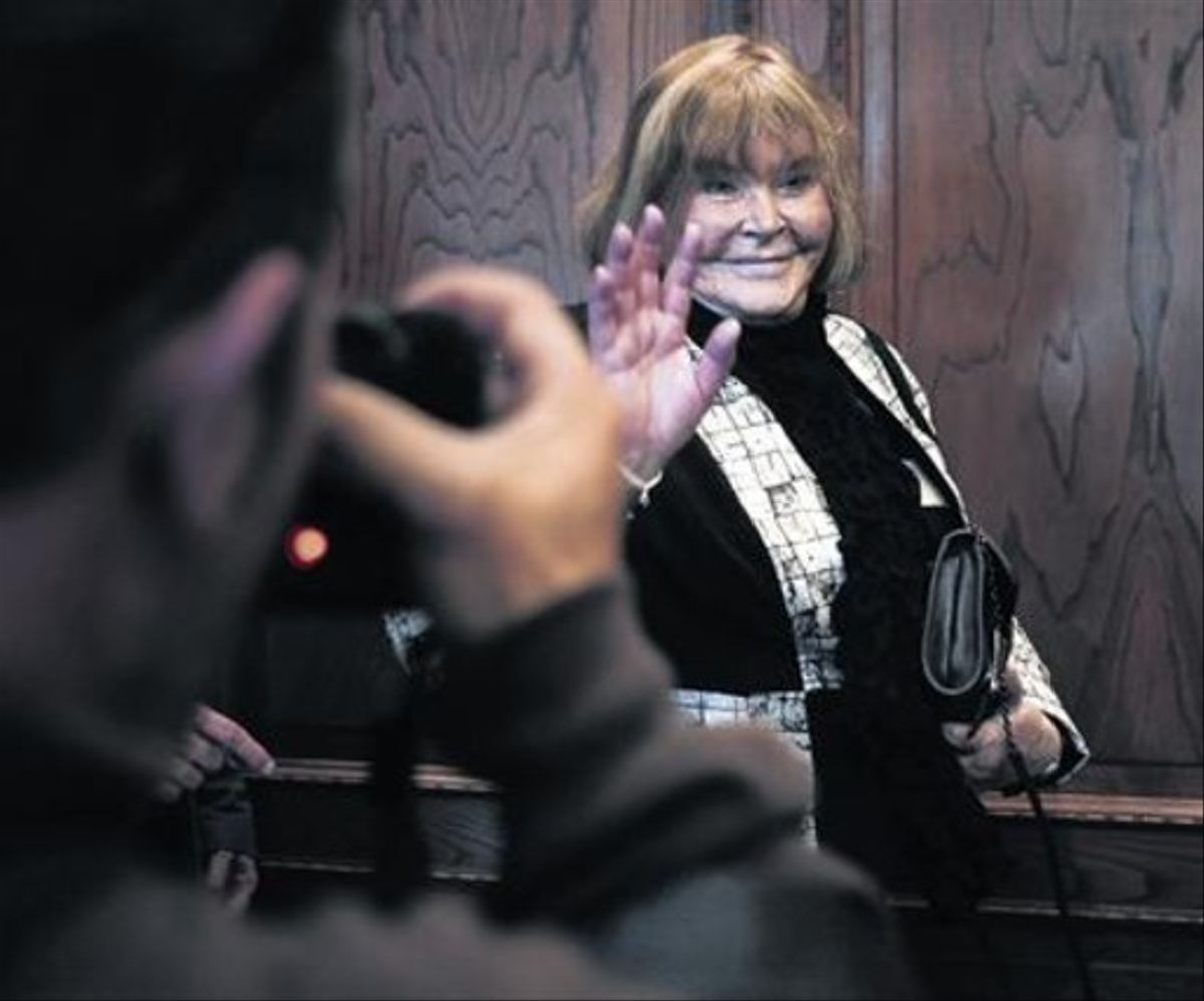 María Romilda Servini de Cubría, durante la rueda de prensa que ofreció el pasado martes en el Ayuntamiento de San Sebastián.