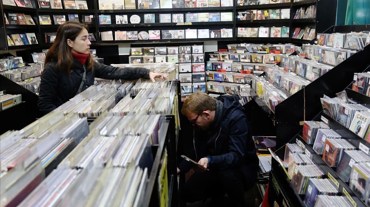 La tienda de discos Revolver, en la calle Tallers de Barcelona