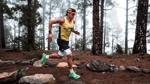 Pau Capell, en plena acción en una prueba en Tenerife.