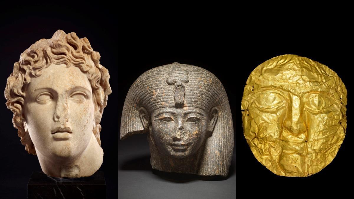 Tres piezas exhibidas en 'La imagen humana. Arte, identidades y simbología'.
