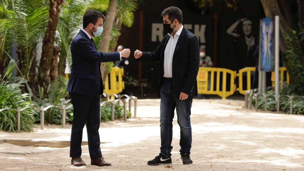 Pere Aragonès y Jordi Sànchez.