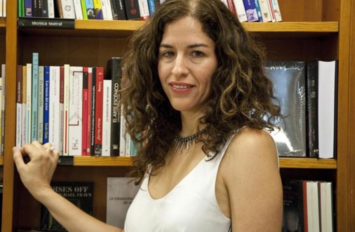 Guadalupe Nettel, en la librería Laie de Barcelona.