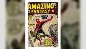 Ejemplar a subasta de 'Amazing Fantasy #15', que contiene la primera historia completa de Spider-Man.