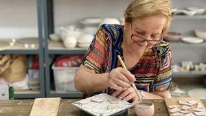 Una participante del programa de proyectos artísticos de la Fundación La Caixa.
