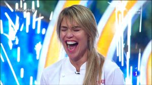 Raquel Meroño, al saber que era la ganadora de 'Masterchef Celebrity 5'.