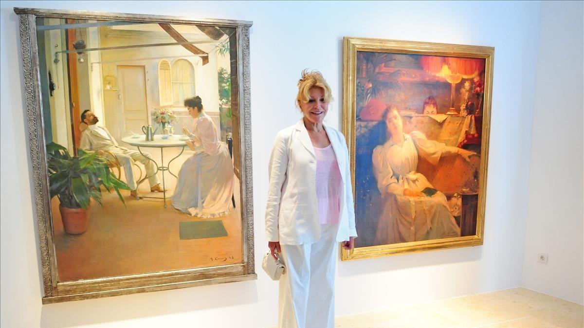 La baronesa, en el espacio Carmen Thyssen en Sant Feliu de Guíxols, en el 2012.