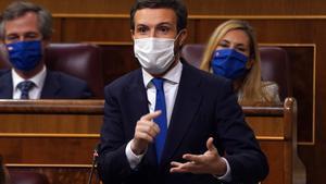 Casado: «Espanya se'n va a la ruïna i el Govern l'únic que fa és barallar-se entre si»