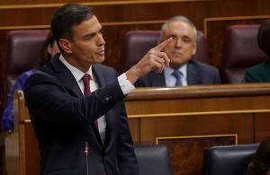 Pedro Sánchez, durante el pleno del Congreso.