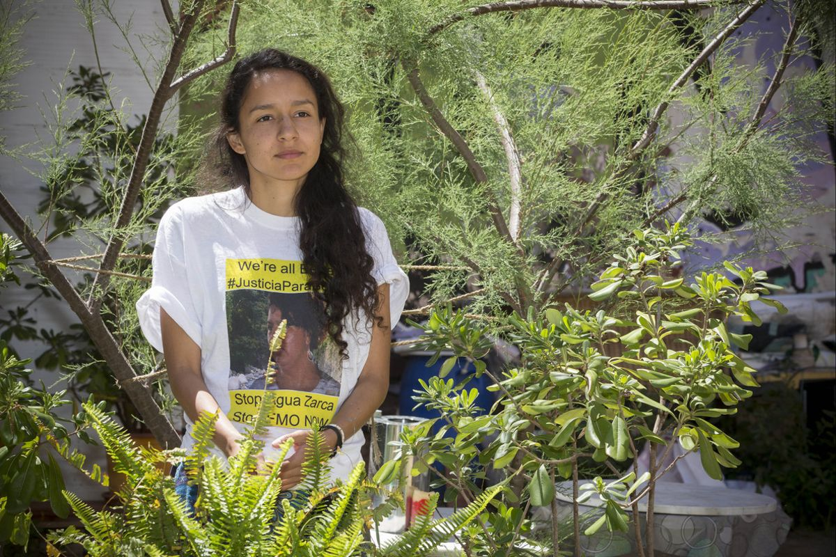 Berta Zúñiga Caceres, hija de la activista hondureña asesinada Berta Cáceres, en Barcelona.
