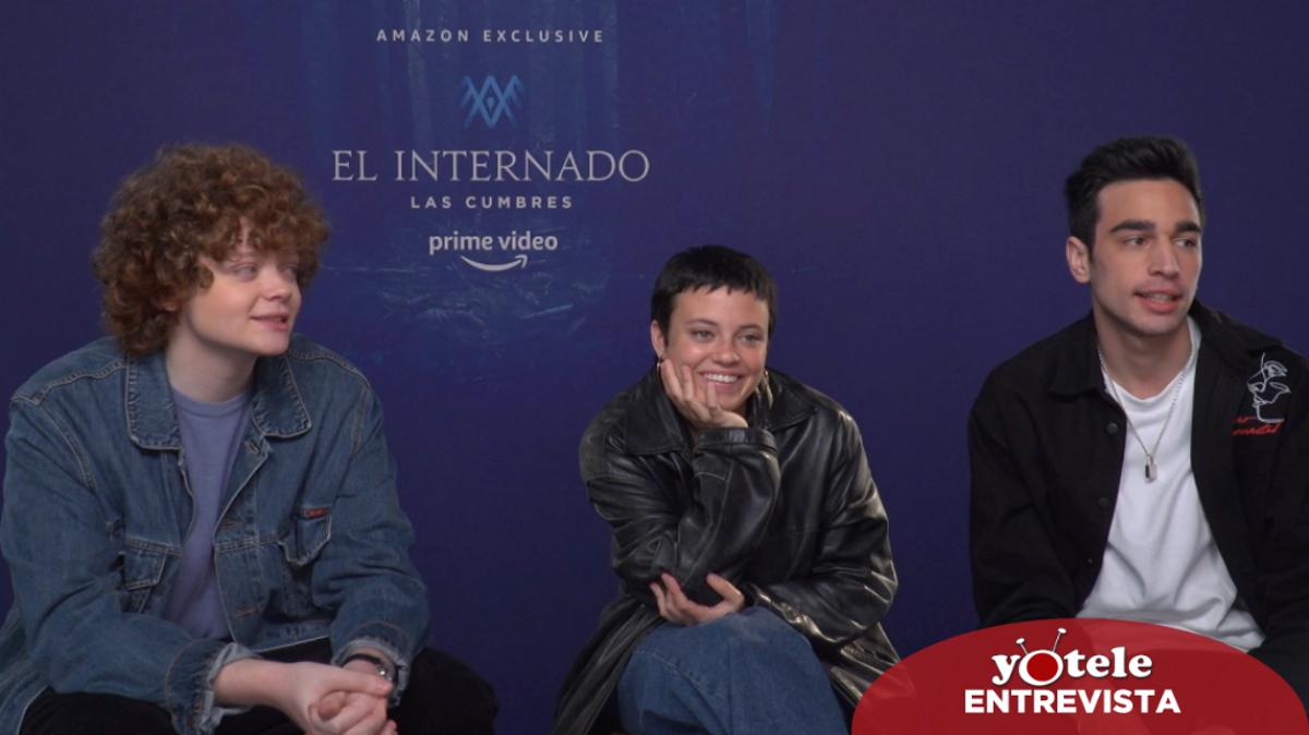Gonzalo Díez, Paula del Río y Daniel Arias, protagonistas de 'El Internado: Las cumbres'