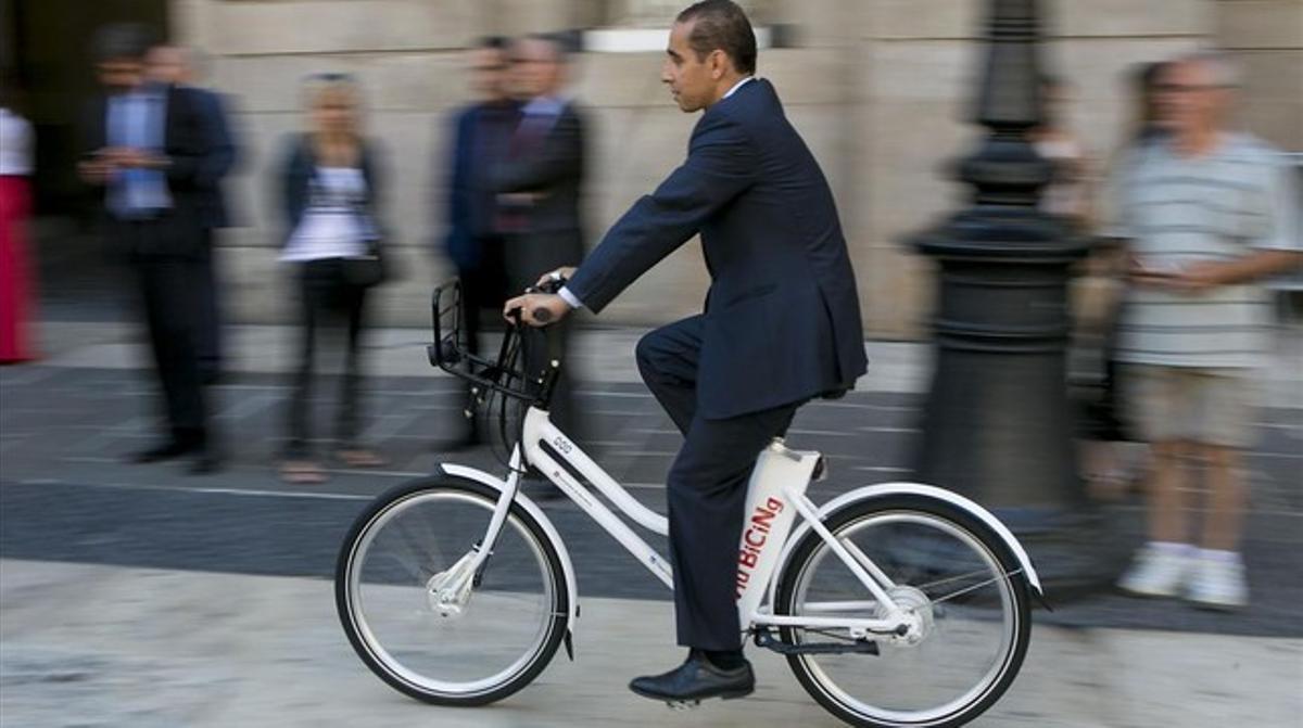 Una bici eléctrica de alquiler, la nueva modalidad del Bicing.
