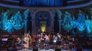 La Sant Andreu Jazz Band, en el Palau de la Música, el viernes.