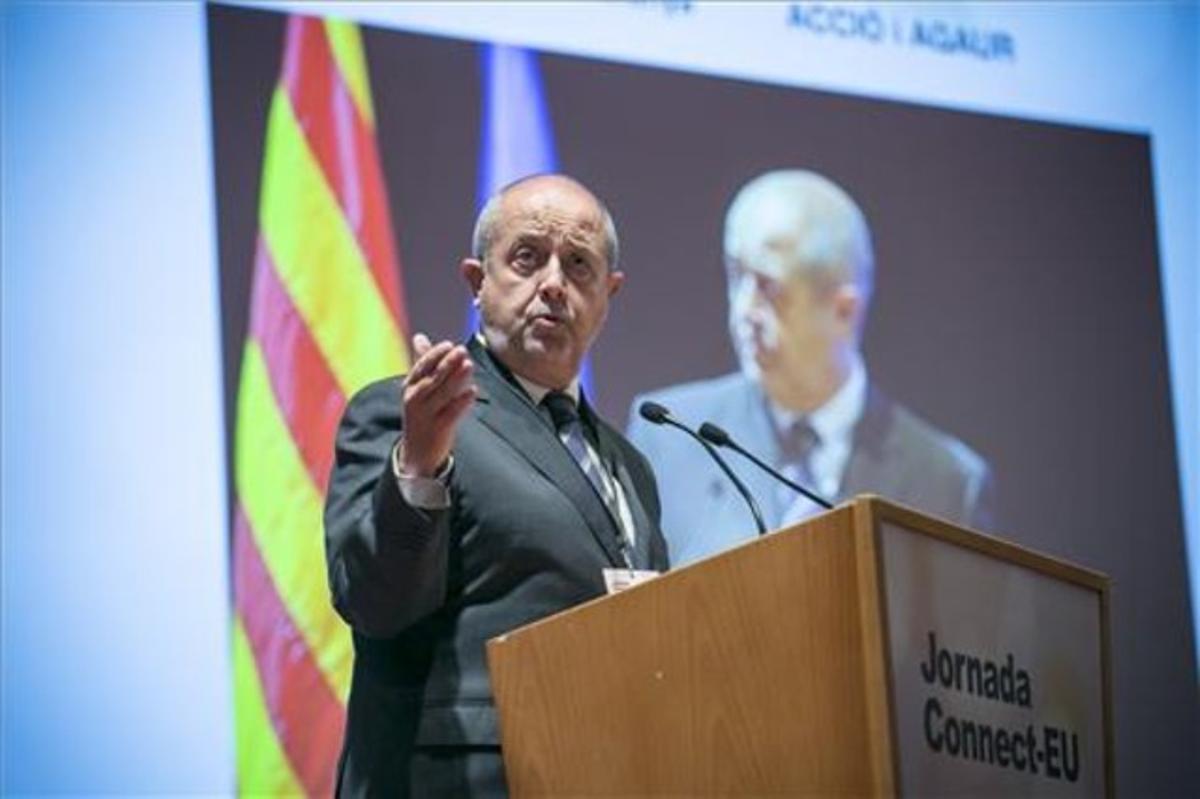 El conseller Puig, en la jornada sobre el programa Horizonte 2020.