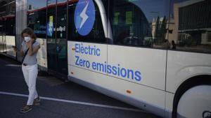 Uno de los buses eléctricos presentados este miércoles.