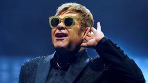 Elton John, durante el concierto que ofreció en el Palau Sant Jordi de Barcelona el pasado 3 de diciembre del 2017, dentro de su gira mundial 'Wonderful crazy night tour'.