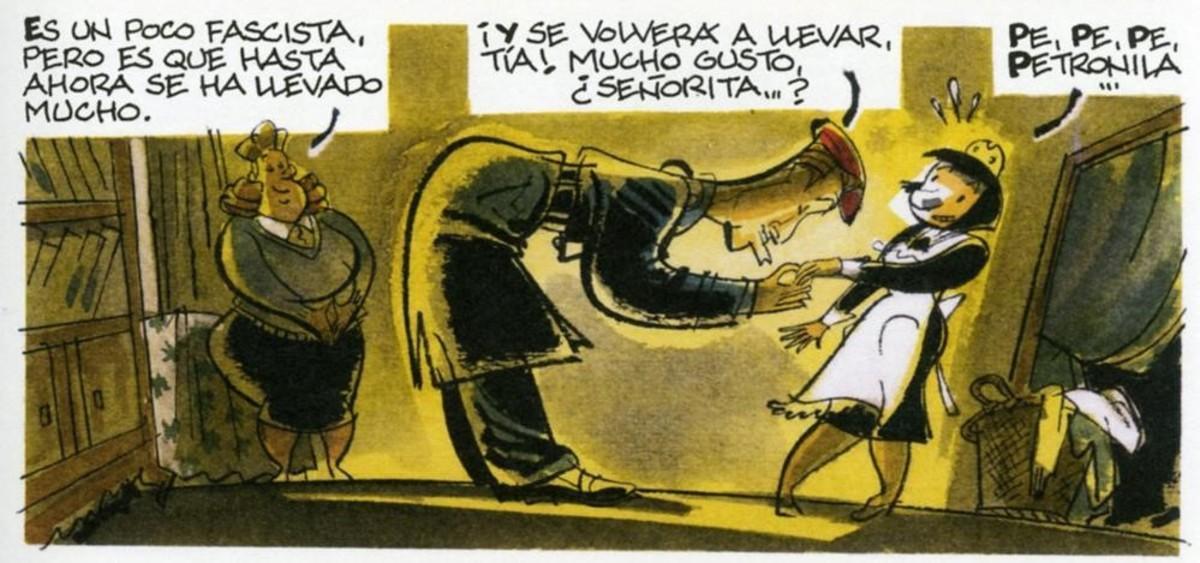 Viñeta de 'El solar', cómic de Alfonso López.