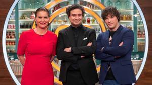 Samantha Vallejo-Nágera, Pepe Rodríguez y Jordi Cruz, jurados de 'Masterchef'.