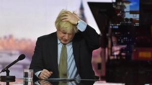 Boris Johnson en el programa de este domingo en la BBC.