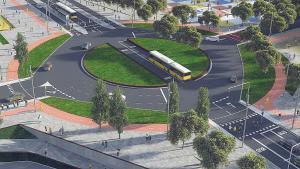 Imagen virtual de la futura plaza de Colom de Castelldefels.