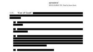 Imagen de los párrafos tachados en el contrato entre la UE y AstraZeneca.