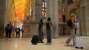 Turistas en la Sagrada Familia
