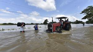 Inundaciones en México por fuertes lluvias.