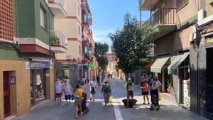 La calle de Rosselló, en el barrio de Cerdanyola, Mataró, esta semana