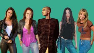 De izquierda a derecha, Megan Fox, Lindsay Lohan, Sinéad O'Connor, Alannis Morissette y Briney Spears.