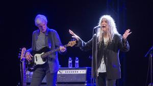 Patti Smith, durante su actuación el 8 de agosto del 2019, en el Festival de la Porta Ferrada.