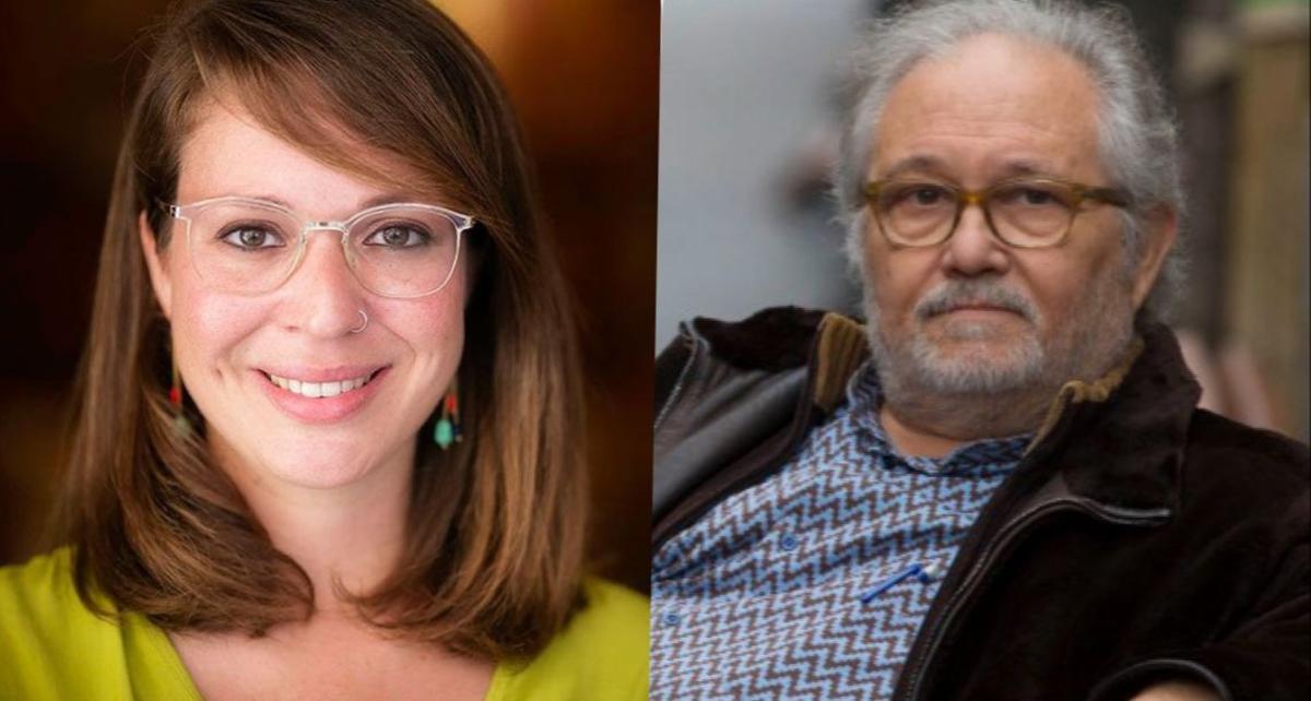 Janet Sanz, teniente de alcalde de Urbanismo, y el arquitecto y urbanista José Acebillo