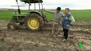 Chicote con Juanete y su tractor (La Sexta).