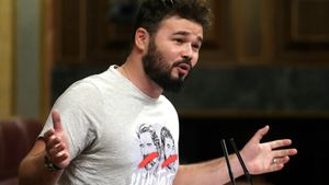Gabriel Rufían, en el Congreso de los diputados.