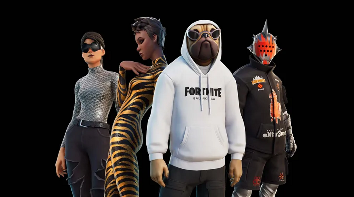 La línea de ropa virtual que Balenciaga ha lanzado en Fortnite