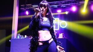 La Zowi, durante su actuación en el festival Cara B de 2019.