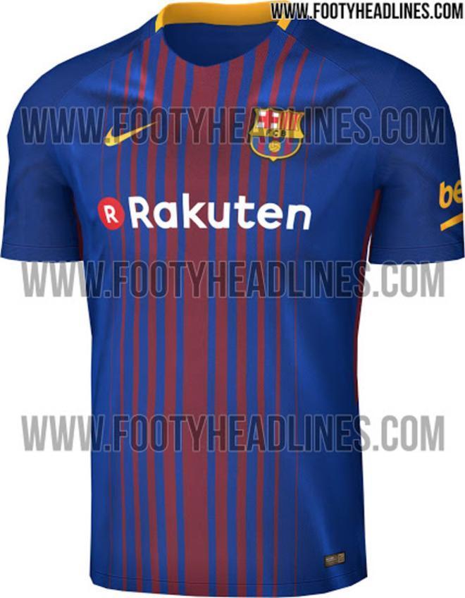 Nuevo diseño de la camiseta del Barça de la próxima temporada