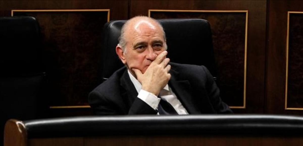 El ministro del Interior, Jorge Fernández Díaz, en el Congreso de los Diputadosel pasado 28 de mayo.