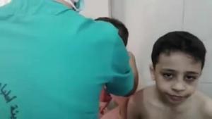 Civiles tratados de un supuesto ataque químico con gas de cloro en Alepo.