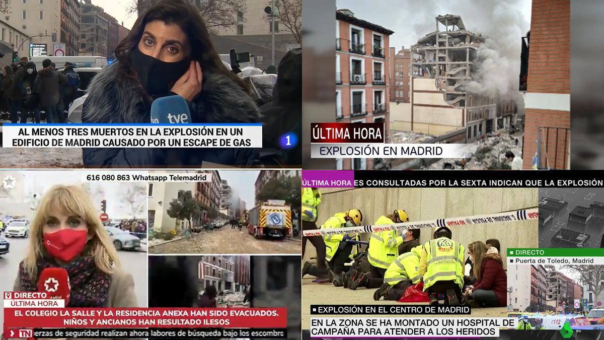 Així han alterat les cadenes la seva programació per informar en directe de l'explosió a Madrid