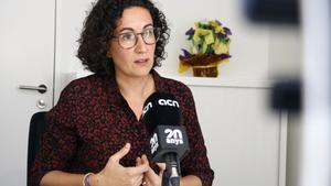 Marta Rovira, en una entrevista en Ginebra.