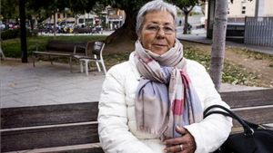 Montserrat Teixes, una mujer que ha vivido 11 meses en la calle.