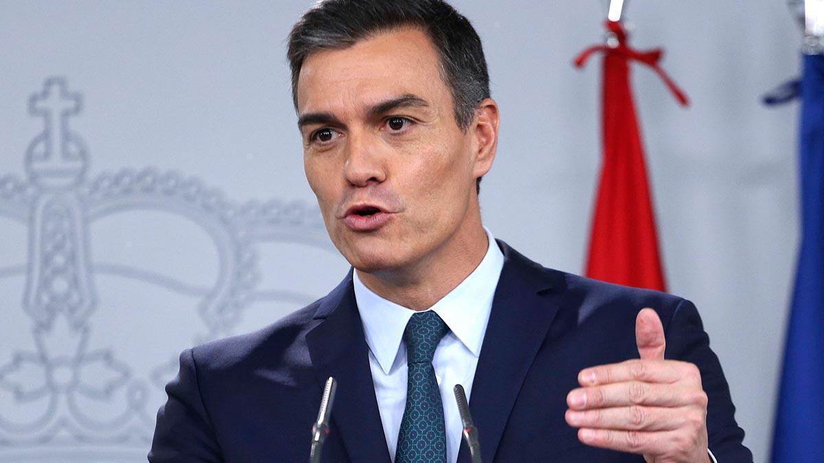 Pedro Sánchez, en la Moncloa,