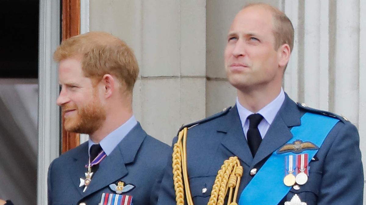 Harry y William, en uniforme militar.