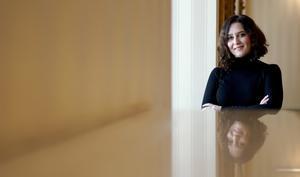 Isabel Díaz Ayuso, presidenta de la Comunidad de Madrid, durante la entrevista.