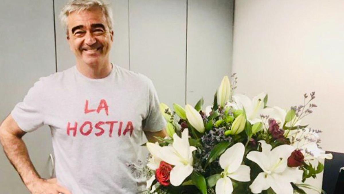 Carles Francino, que ya ha superado el covid, vuelve esta tarde a 'La Ventana'.
